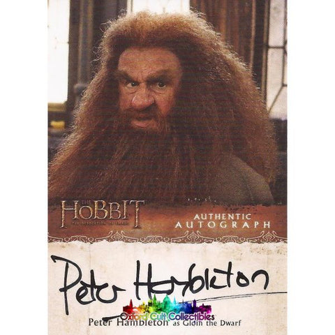 The Hobbit Desolation Of Smaug Gloin The Dwarf Authentic Autograph Card
