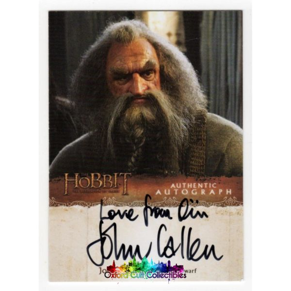 The Hobbit Desolation Of Smaug Oin The Dwarf Authentic Autograph Card