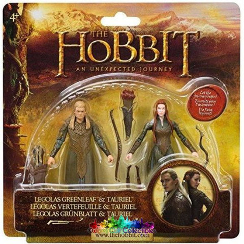 The Hobbit Legolas Greenleaf And Tauriel Action Figure Set (An Unexpected Journey)