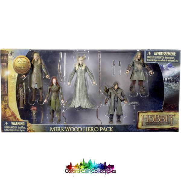 The Hobbit Mirkwood Hero Pack Action Figure Set (The Desolation Of Smaug)
