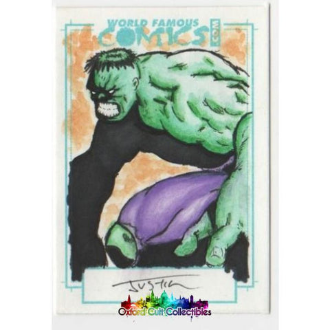 The Incredible Hulk Artist Sketch Card