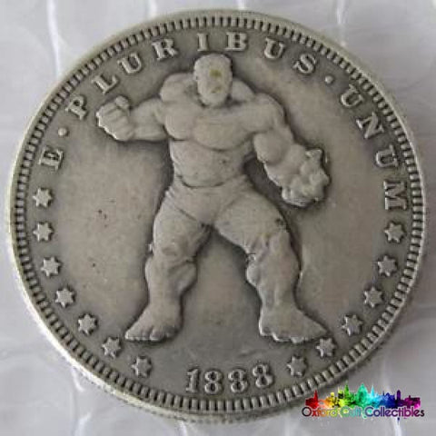 The Incredible Hulk Vintage Style One Dollar Collectible Coin