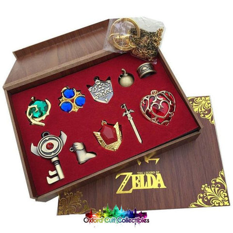 The Legend Of Zelda Necklace/keychain Set Now On Sale!
