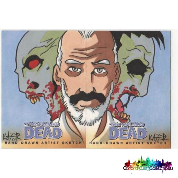 The Walking Dead Comic Book Artist Sketch Card Panel