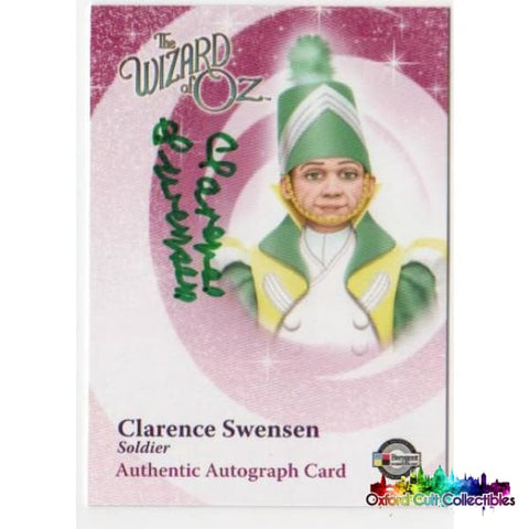 The Wizard Of Oz Clarence Swensen As Soldier Autograph Card