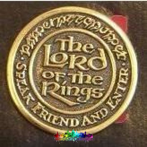Vintage Lord Of The Rings Speak Friend And Enter Belt Buckle