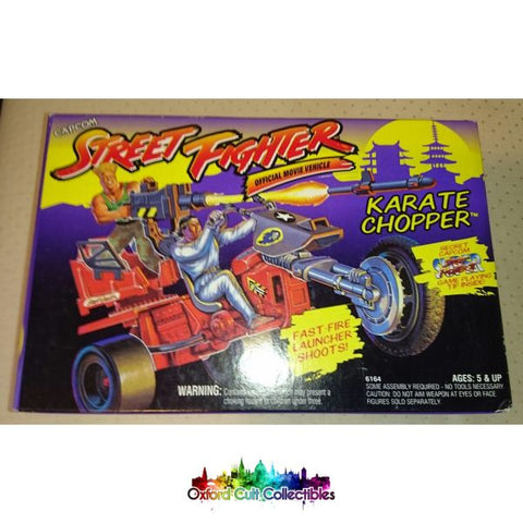 Vintage Street Fighter 2 Karate Chopper Action Vehicle