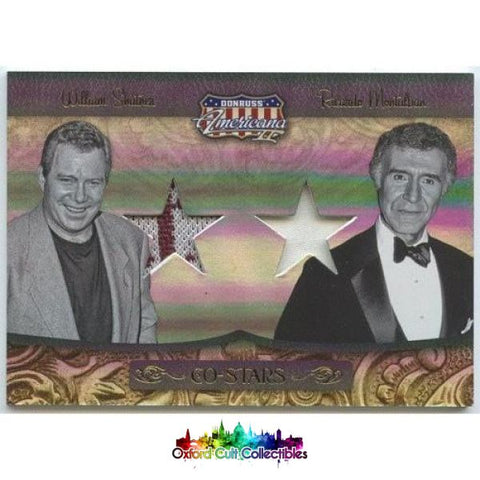 William Shatner And Ricardo Montalban Dual Costume Card