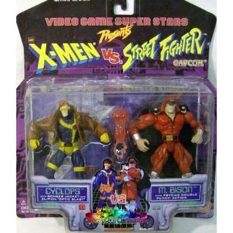 X-Men Vs Street Fighter Cyclops Vs M Bison Action Figure Set