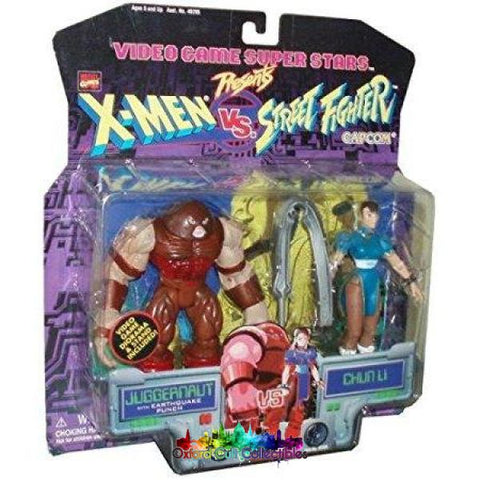 X-Men Vs Street Fighter Juggernaut Vs Chun Li Action Figure Set