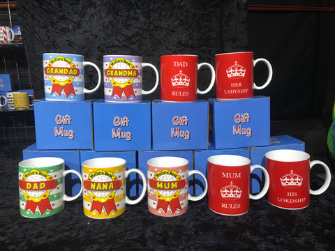 Be Nice and Family Mugs - Lots of Different Slogans