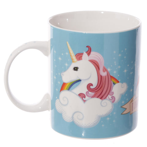 I Don't Believe in Humans Unicorn China Mug side view