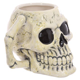 Ancient Skull Shaped Mug handle view