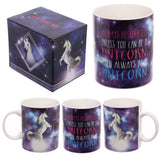 Lauren Billingham Majestic Unicorn Mug side view and box