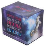 Lauren Billingham Majestic Unicorn Mug rear of box