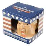 President Shaped Ceramic Mug in box