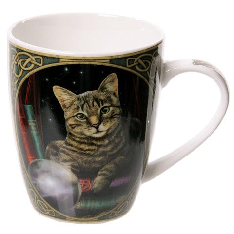 Fortune Teller Cat New Bone China Mug - Lisa Parker Licensed Design Side view