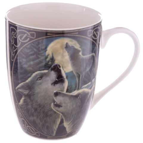 Wolf Song Porcelain Mug - Lisa Parker Licensed Design side view