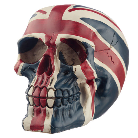 Gruesome Union Flag Skull Decoration angled Front View