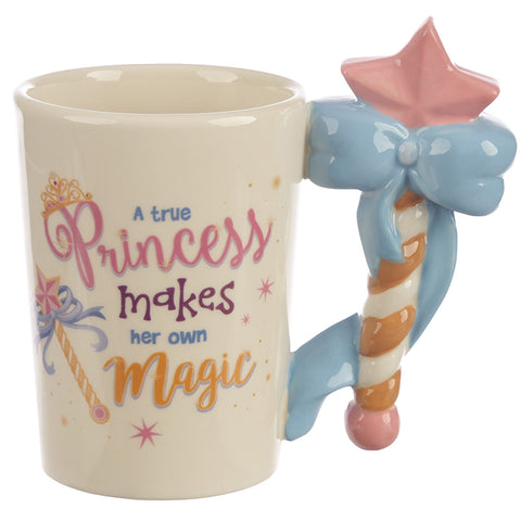 Enchanted Kingdom Fairy Princess Magic Wand Shaped Handle Mug