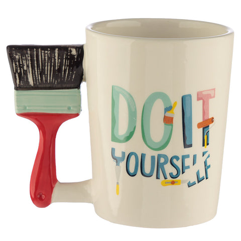 Paint Brush Shaped Handle Mug