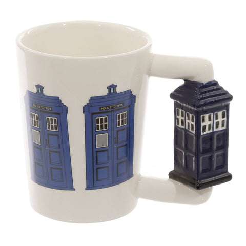 Police Box Shaped Handle Mug