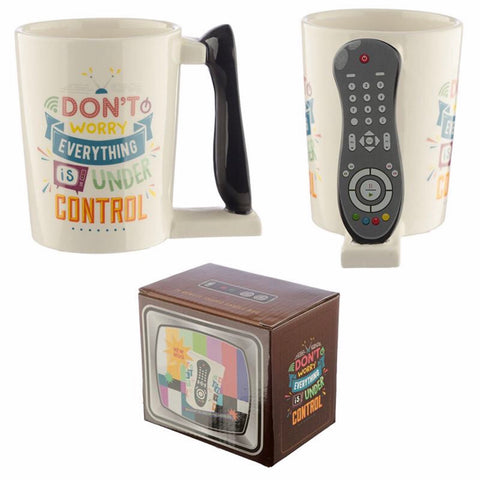 TV Remote Control Shaped Handle Ceramic Mug - FREE 1st Class Post