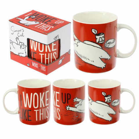S imon's Cat New Bone China Mug - I Woke Up Like This