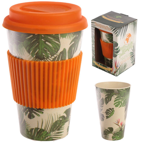 Bamboo Composite Cheese Plant Travel Mug and box