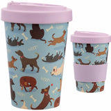 Bamboo Composite Catch Patch Dog Screw Top Travel Mug