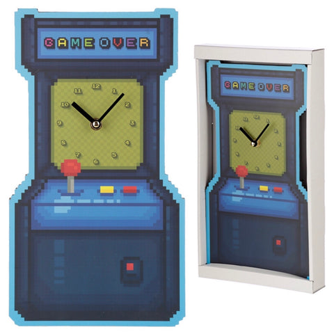 Retro gaming arcade wall clock