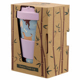 Bamboo Composite Catch Patch Dog Screw Top Travel Mug in box