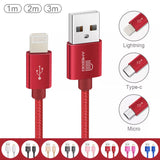 iPhone and iPad Lightning Fast Charge Cable - Sync and Charge Red colour