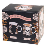 Heat Colour Changing Porcelain Mug - Skulls and Roses rear of box