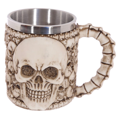 Skull tankard side view