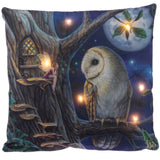 Owl and Fairy Decorative LED Cushion