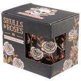 Heat Colour Changing Porcelain Mug - Skulls and Roses in box