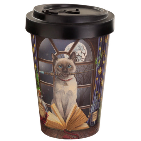 Bamboo travel mug with lid hocus-pocus cat Design