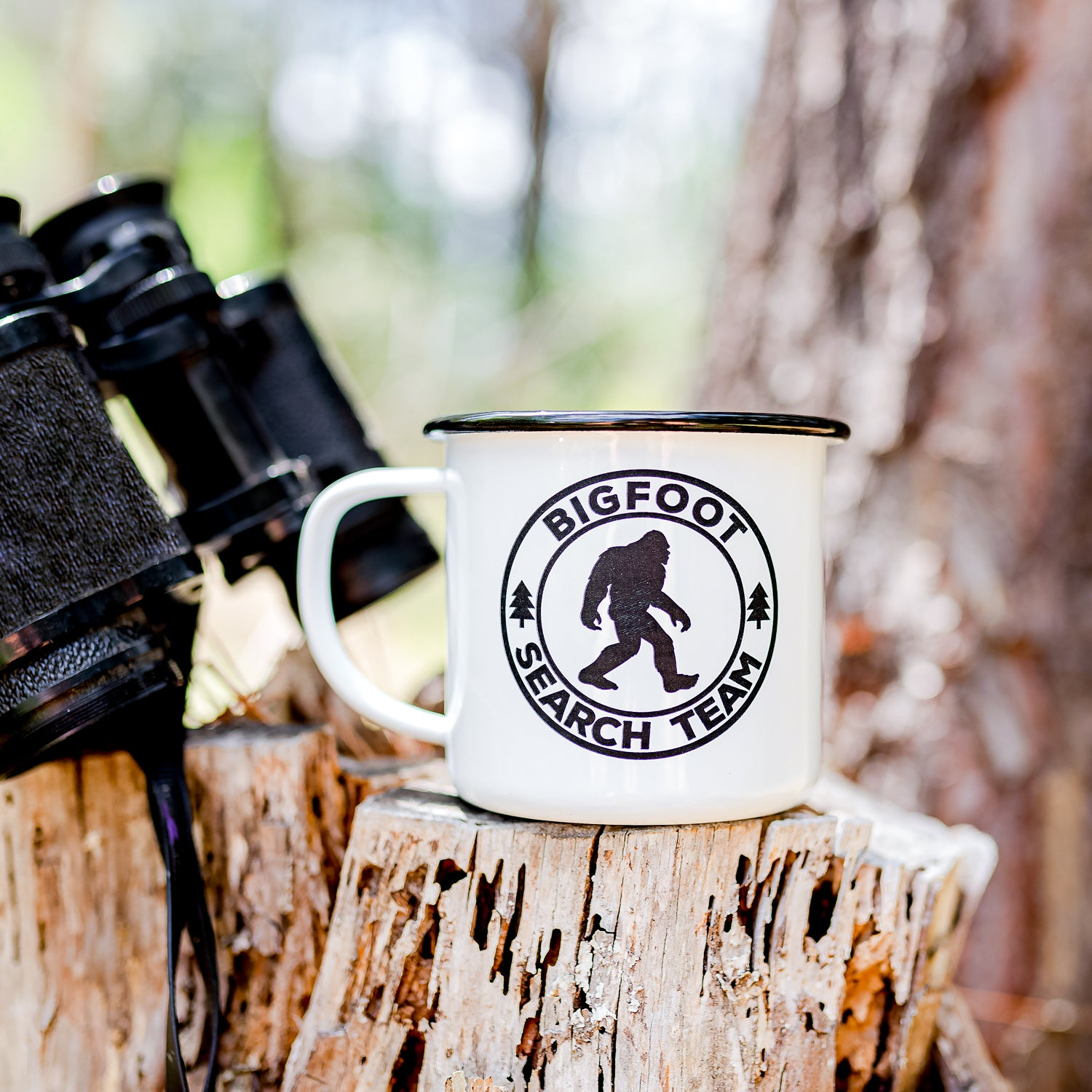 Bigfoot Enamel Mug