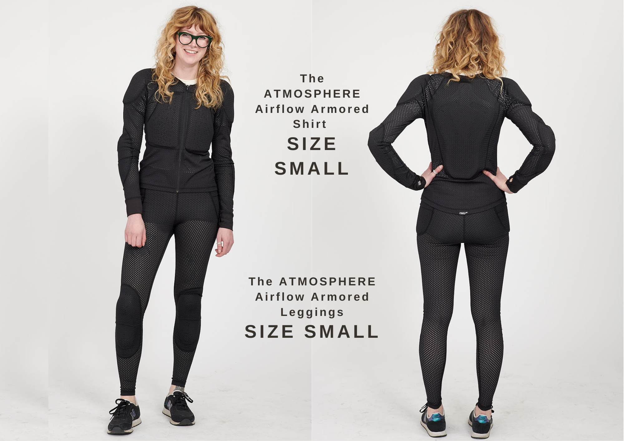 The ATMOSPHERE Airflow Armored Shirt and Leggings SIZE SMALL