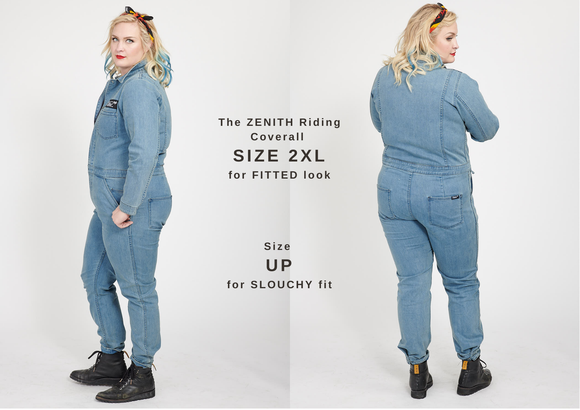 The ZENITH Riding Coverall SIZE 2XL for FITTED look