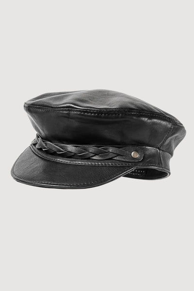 ATLAS Leather Biker Cap /// 3 colors