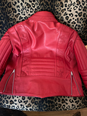 Stellar, Moto, functional art, moto gear, MOTO, vintage, protective wear, functional fashion, motorcycle, shirt, tee, retro, fashion, jacket,jacket, black, armored, soft, airflow, resistant, strong, STARFIELD MX Armored Leather Jacket Red