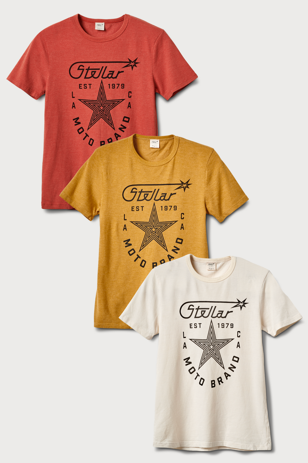 Stellar, Moto, functional art, moto gear, MOTO rally t-shirt, neckline, cotton, vintage, short sleeve, protective wear, functional fashion, motorcycle, shirt, tee, retro, fashion,  soft, airflow, resistant, strong, STAR SHIELD T shirt