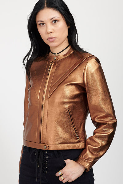 VOLTAGE Leather Jacket / COPPER