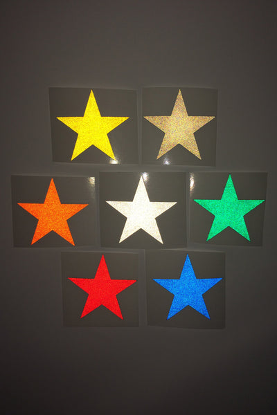 "1"" Reflective Decals STARS"