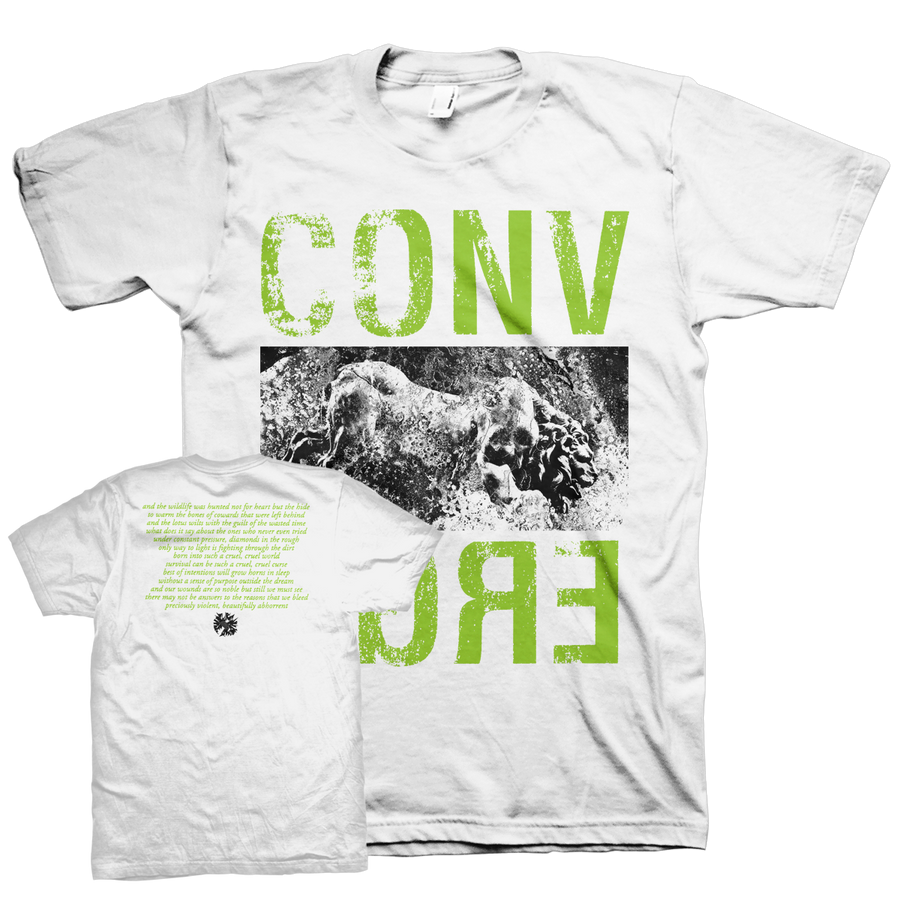 "Converge ""Wildlife"" White T-Shirt"