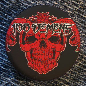 "100 Demons ""Skull"" Button"