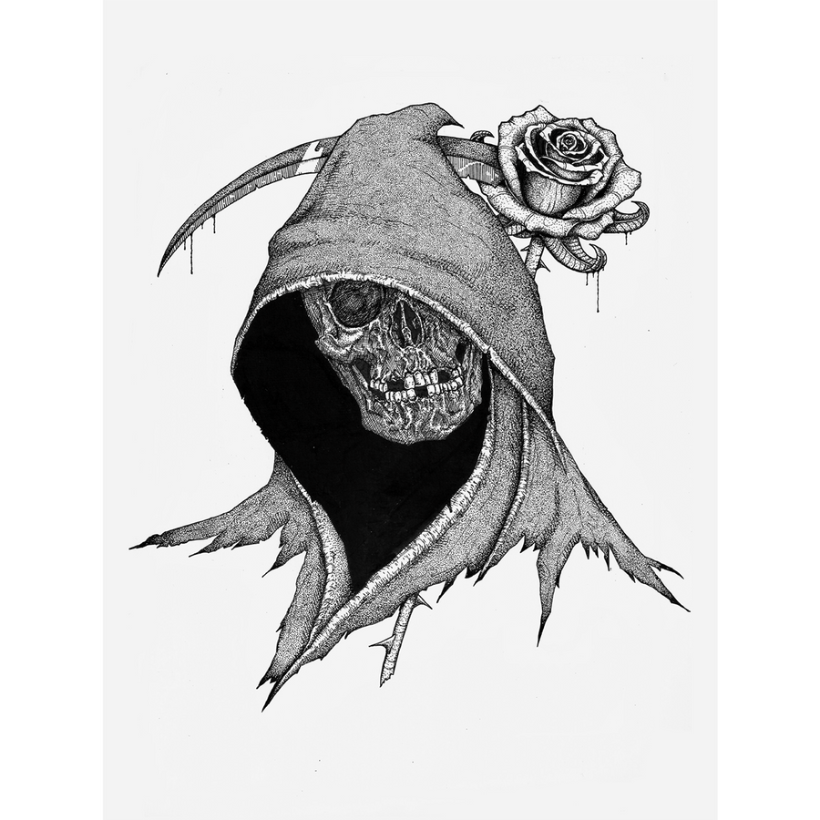 "Anthony Lucero ""Reaper And Rose"" Giclee Print"