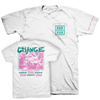 "Change ""Straight Edge - Pink & Green Variant"" White T-Shirt"